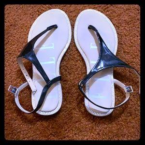 Elle Black & Crystal Sandals